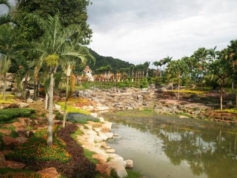 Пруд в ботаническом саду Нонг Нуч