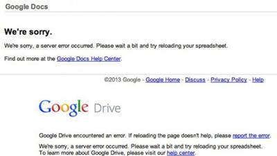 У Google рухнула половина сервисов