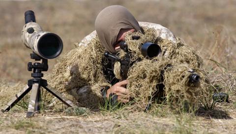 Украинские снайперы открыли …