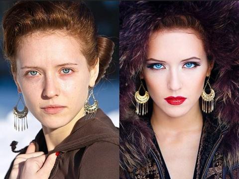 С макияжем и без него: 20 невероятных перевоплощений