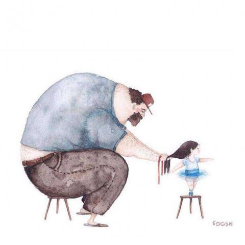 Душевные картинки о любви папы к его маленькой дочке