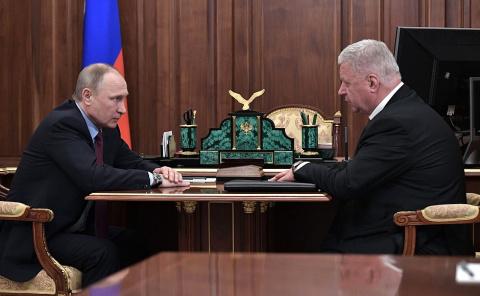 Встреча с главой Федерации независимых профсоюзов России Михаилом Шмаковым