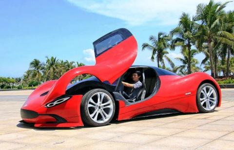 27-летний китаец не смог купить суперкар, и поэтому просто… построил его сам