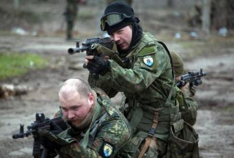 «Азов» против батальона «Дуд…