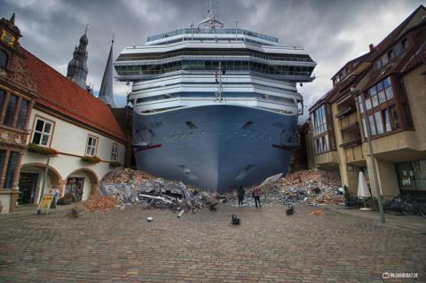 Мастер фотошопа фантастично преображает городские пейзажи