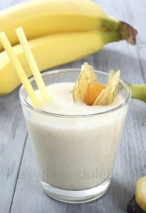Как сделать коктейль с банан…