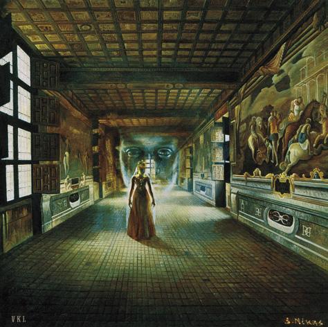 Встреча духа Барбары с хранителем своего замка Сигизмундом-Августом  10 лет спустя
