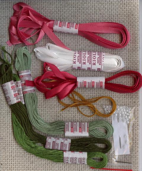 вышивка с использованием лент 2