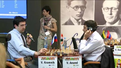 Крамник комментирует, Ананд слушает... перевод