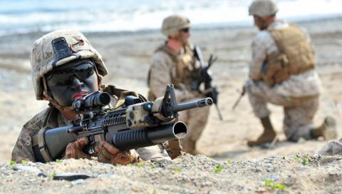 Юмор: учения Морской пехоты …