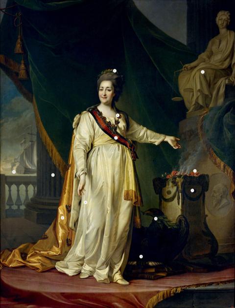 Мать Отечества: 12 символов, зашифрованных в портрете Екатерины Великой