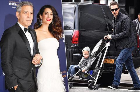 Джордж Клуни и еще 5 самых «поздних» папочек Голливуда, ставших отцами после 40