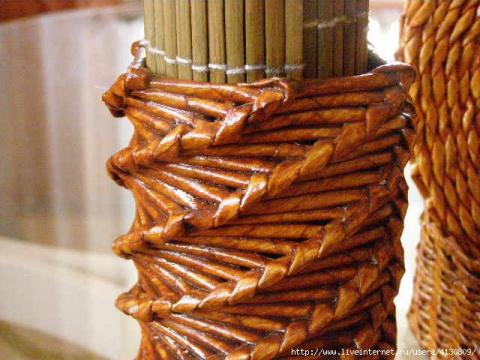 ПЛЕТЕНИЕ ИЗ ГАЗЕТ. Мастер-класс по спиральному плетению для напольных ваз