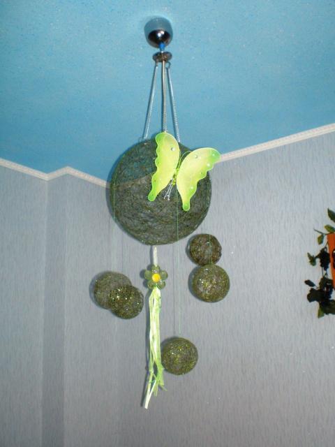 Для тех- кто хотел бабочку на светильник (воздушные украшения для кухни)