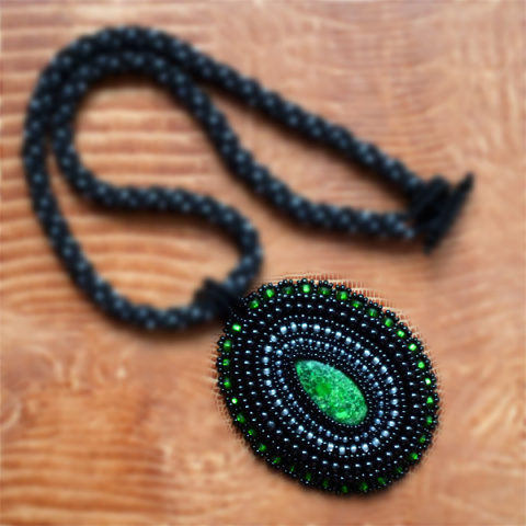 Основы вязания бисерных жгутов крючком - Осинка.  Жг из бисера мк - поделки руками фото #2.