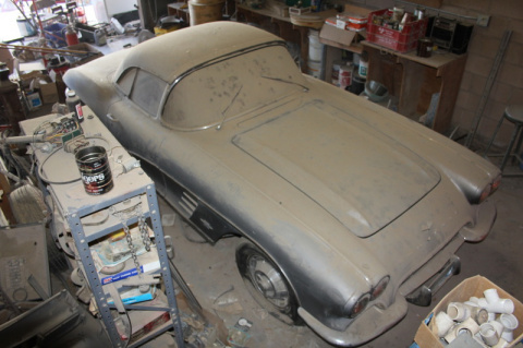 В штате Невада нашли Corvette, простоявший 44 года