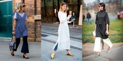 Брюки с платьем – новая мода…