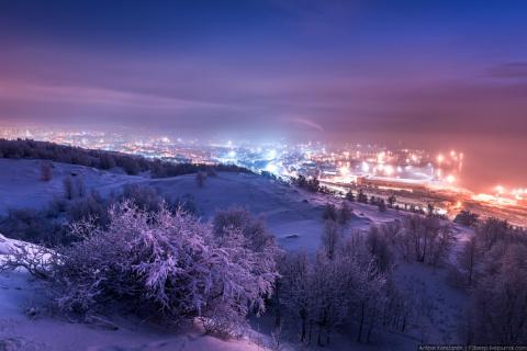 Город Мурманск зимой