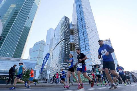 В Московском марафоне бежали более двух тысяч иностранцев