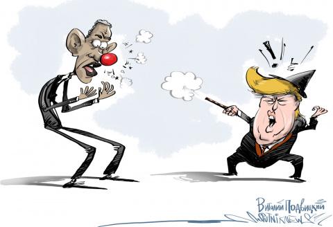 Обама, запершись в кабинете, всячески пытается оттянуть свой конец