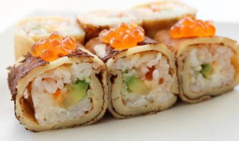 Блины-суши: Самая необычная закуска для праздничного стола!