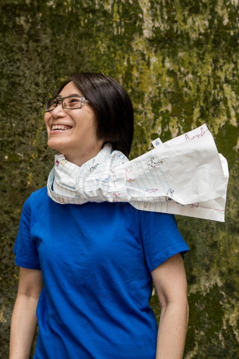 Я сначала начерчу... шарф такой, какой хочу