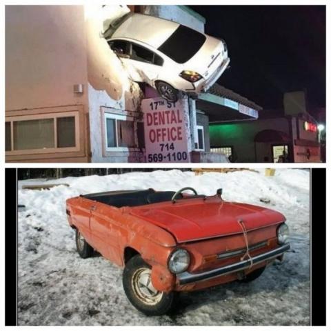 Порция веселых автомобильных приколов