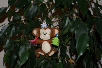 Поделка обезьянка из фетра