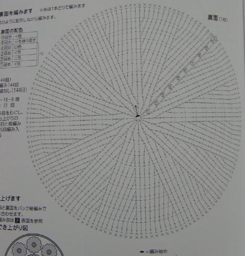 Цветочная салфетка по мотивам японского журнала