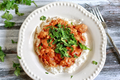 Рецепт. Курица в соусе тикка масала