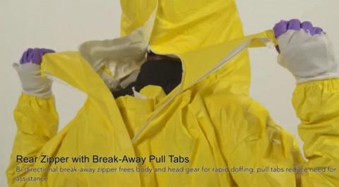 Защитный костюм для борцов с лихорадкой Эбола
