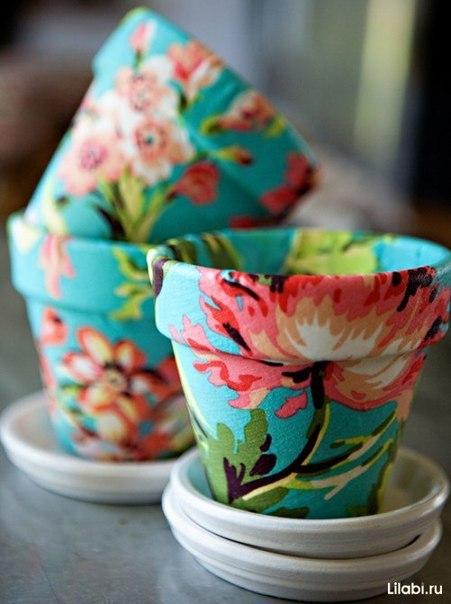 Декорирование цветочных горш…