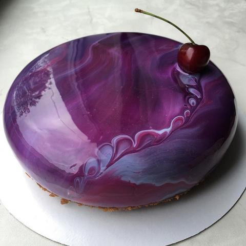 Эти торты выглядят так, будто они из мрамора! А нужно взять лишь сгущенку и желатин…