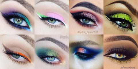 Красим зелёные глаза на выход