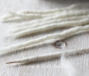 ОВЕЧКА из пряжи и шерсти для валяния