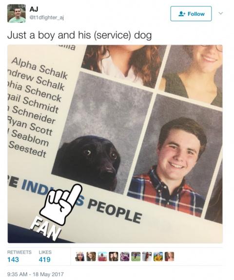 Как фото пса попало в выпускной альбом