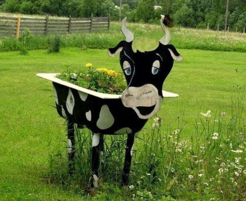 Завели корову на даче :-)