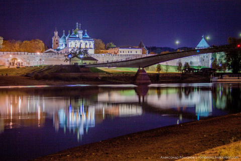 Ночной Великий Новгород