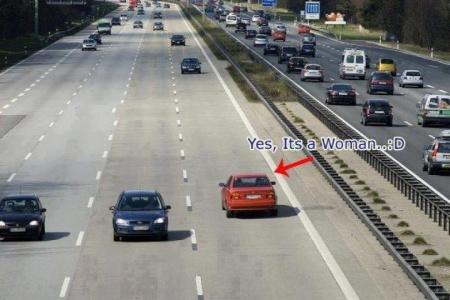 Так ездят женщины