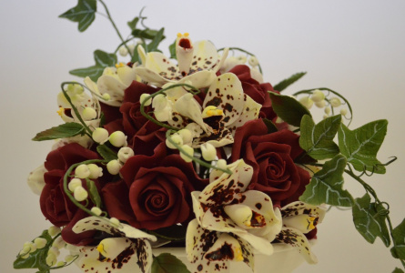 цветы из сладкой мастики