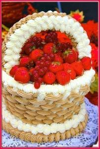 """тортик """"сладкая корзинка""""...."""