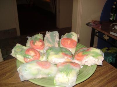бутерброды в рисовых листах