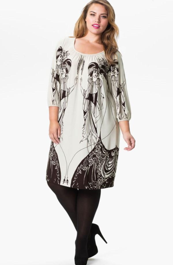 6b79443b7a0 Фасоны платьев для полных женщин с животом