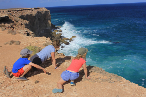 Равнина Налларбор (Nullarbor Plain) и утесы Банда (Bunda Cliffs)