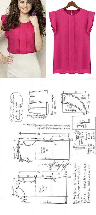 7d53eb2919f Новая подборка летних блузок + выкройки