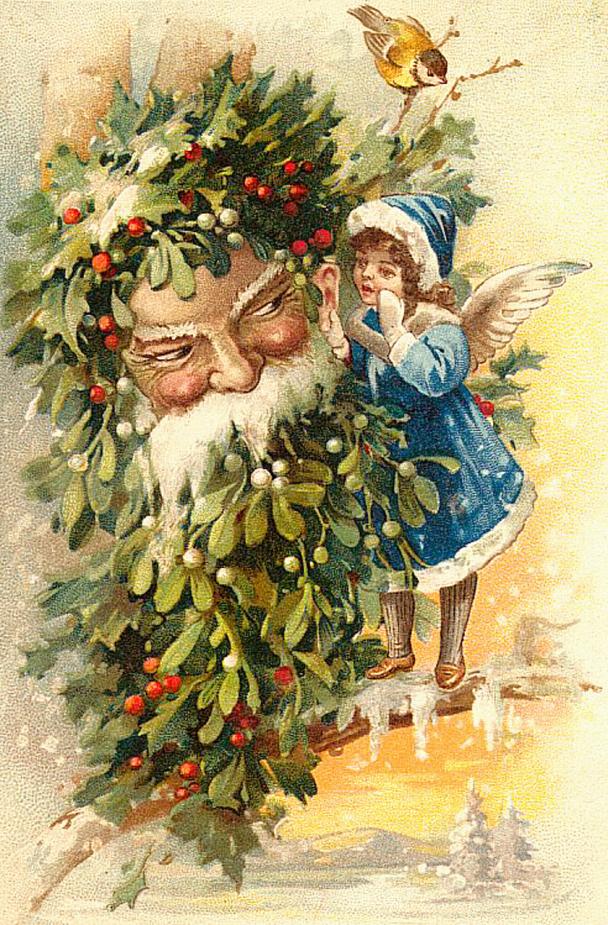 Использовать бумагу, зарубежные открытки рождественские