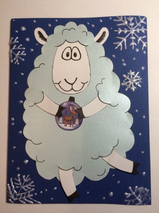 Объемная открытка своими руками на новый год свиньи, гиф