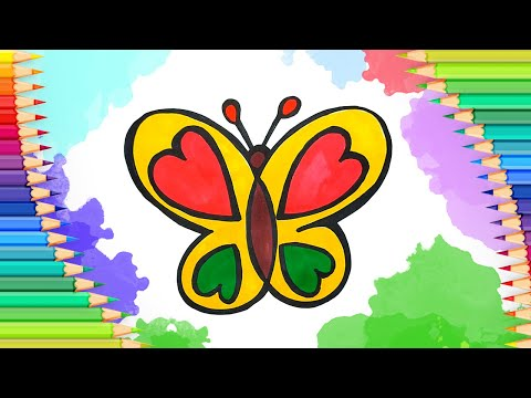 Как нарисовать бабочку l Рас…