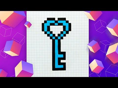 Как нарисовать ключ по клето…