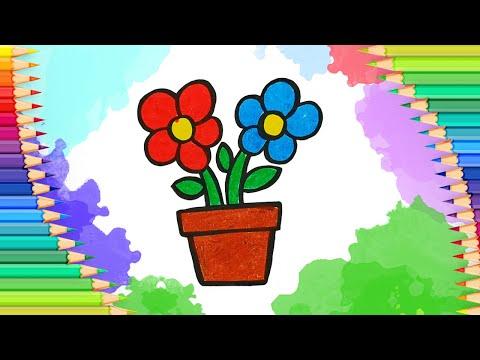 Как нарисовать цветы на 8 ма…